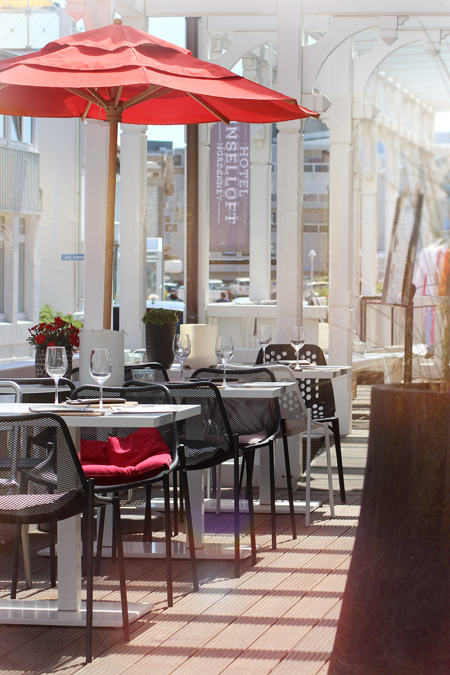 Inselloft Norderney Restaurant Terrasse
