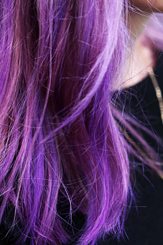 Purple Balayage lila Haare Trend
