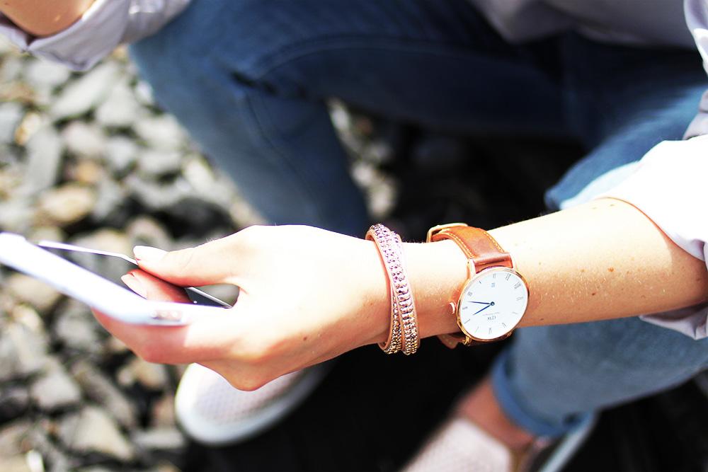 Daniel-Wellington-Uhr-Pippa-und-jean-Armband-blaue-zeiger-rosegold