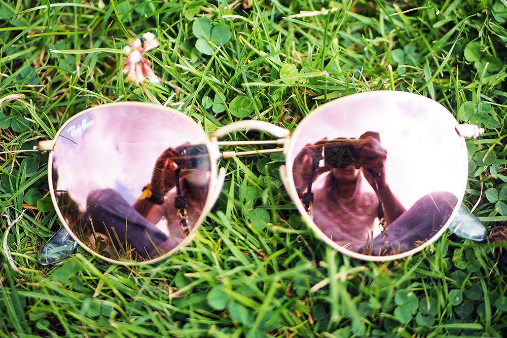 Ray Ban Sonnenbrille fürs Festival