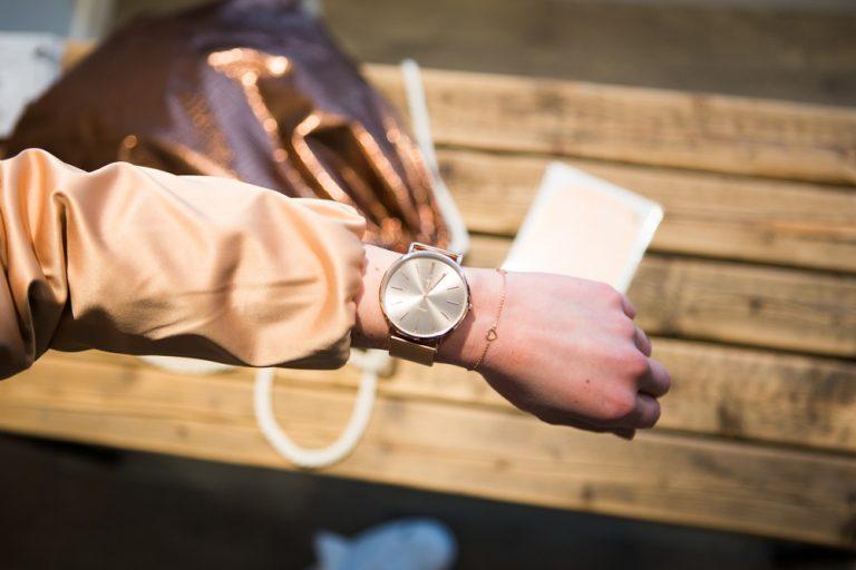 Rosegold Details, Armband, Uhr