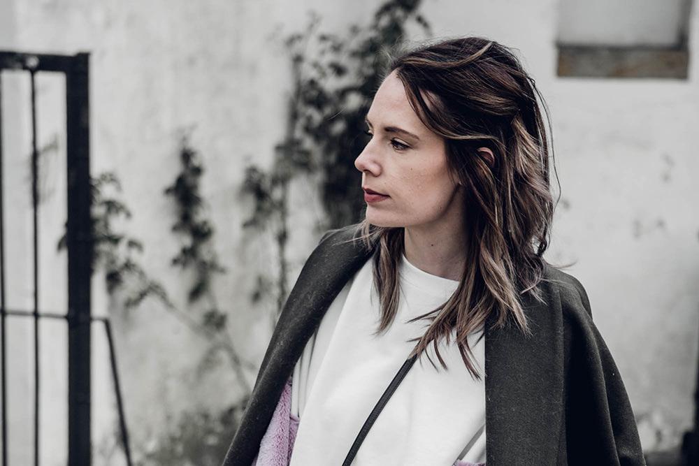 Blogger Sweater Zara Statement Ärmel Plüsch