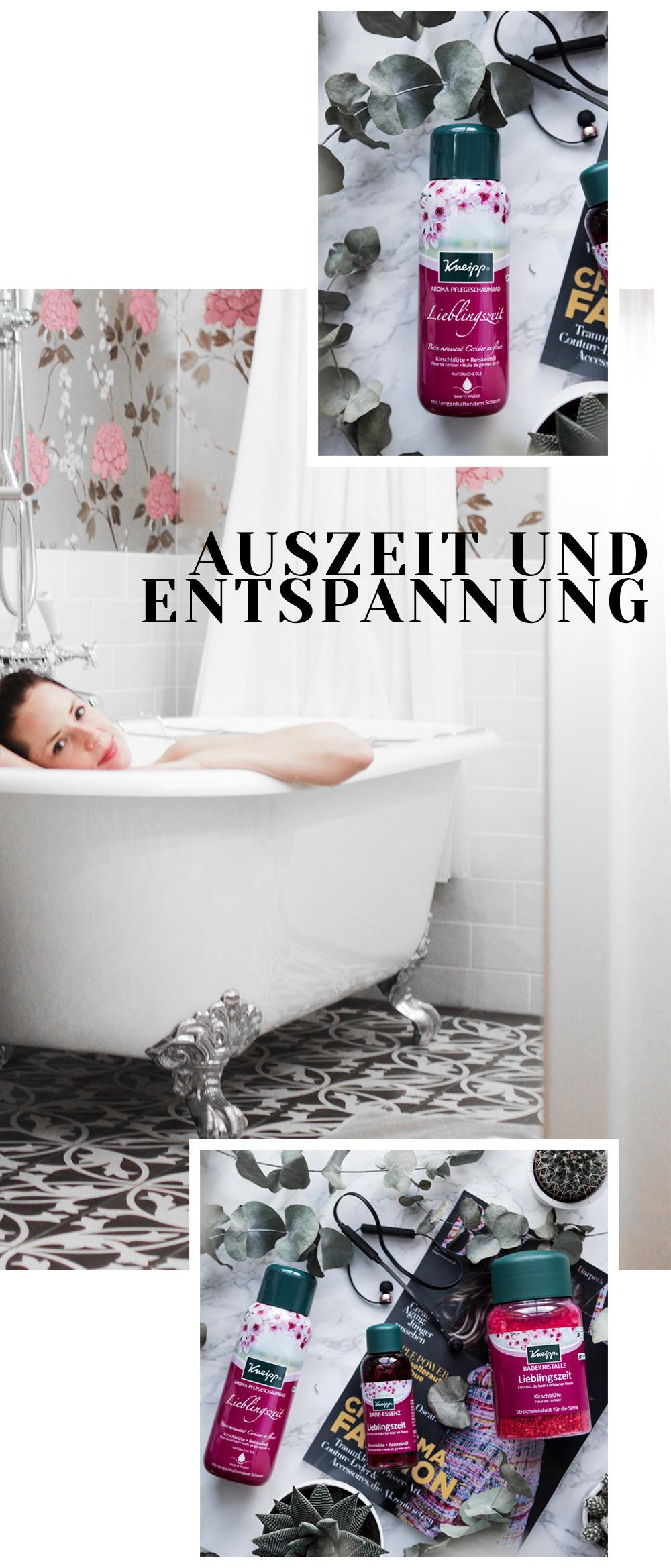 Kneipp Lieblingszeit Badeprodukte Entspannungs Collage