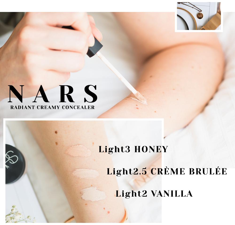 Nars Radiant Creamy Concealer Swatches Vanilla Creme Brûlée Honey