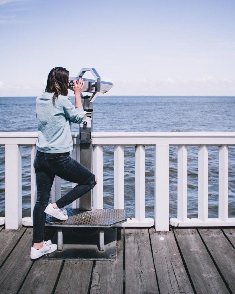 Cuxhaven Aussicht auf die Elbe