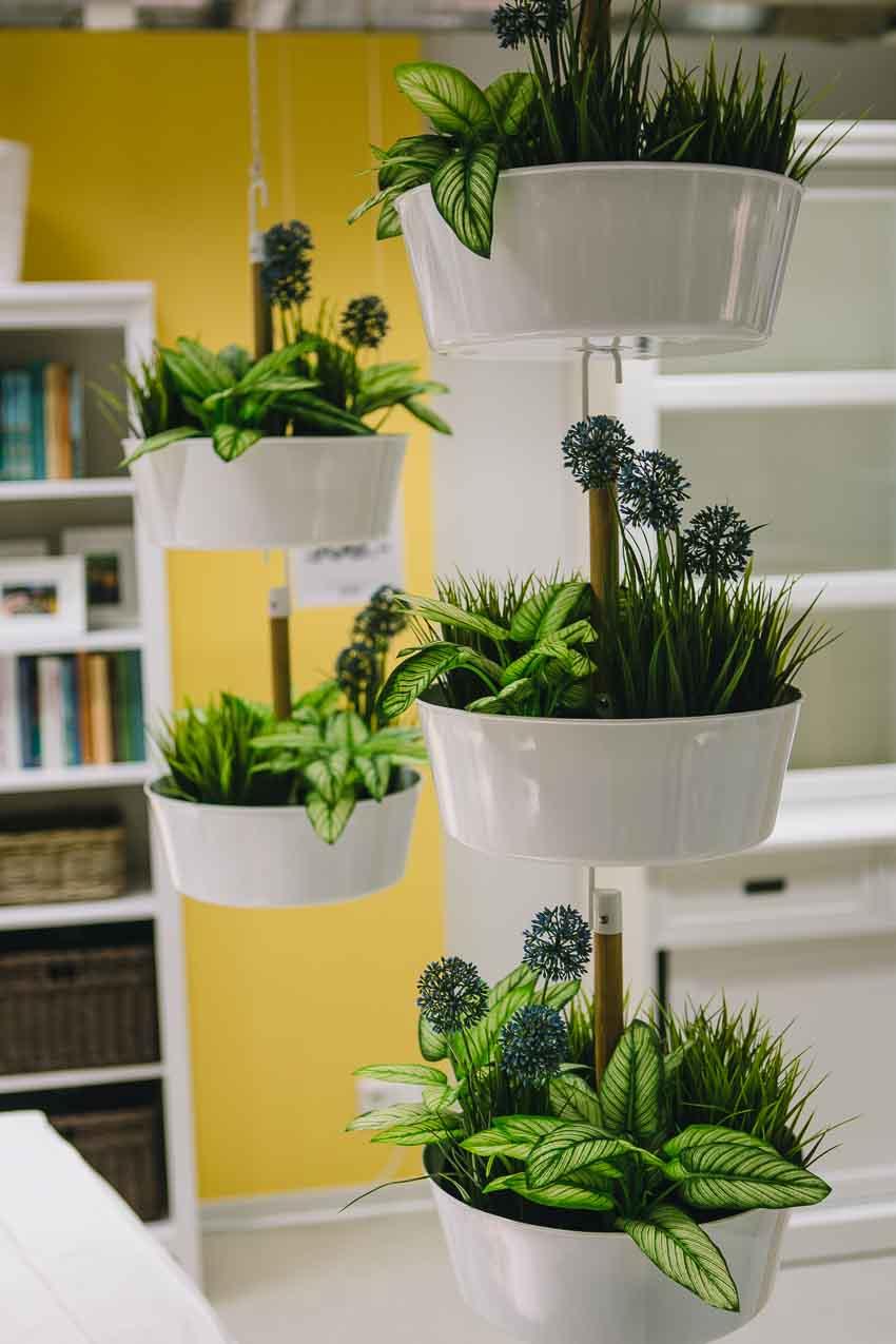 Pflanzendeko, Ikea Etagere zum Hängen