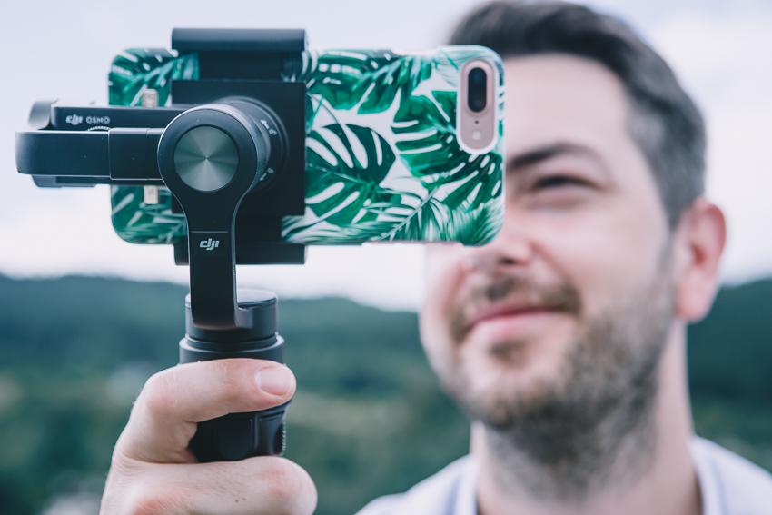 Filmen mit der DJI Osmo Mobile und dem iPhone7plus