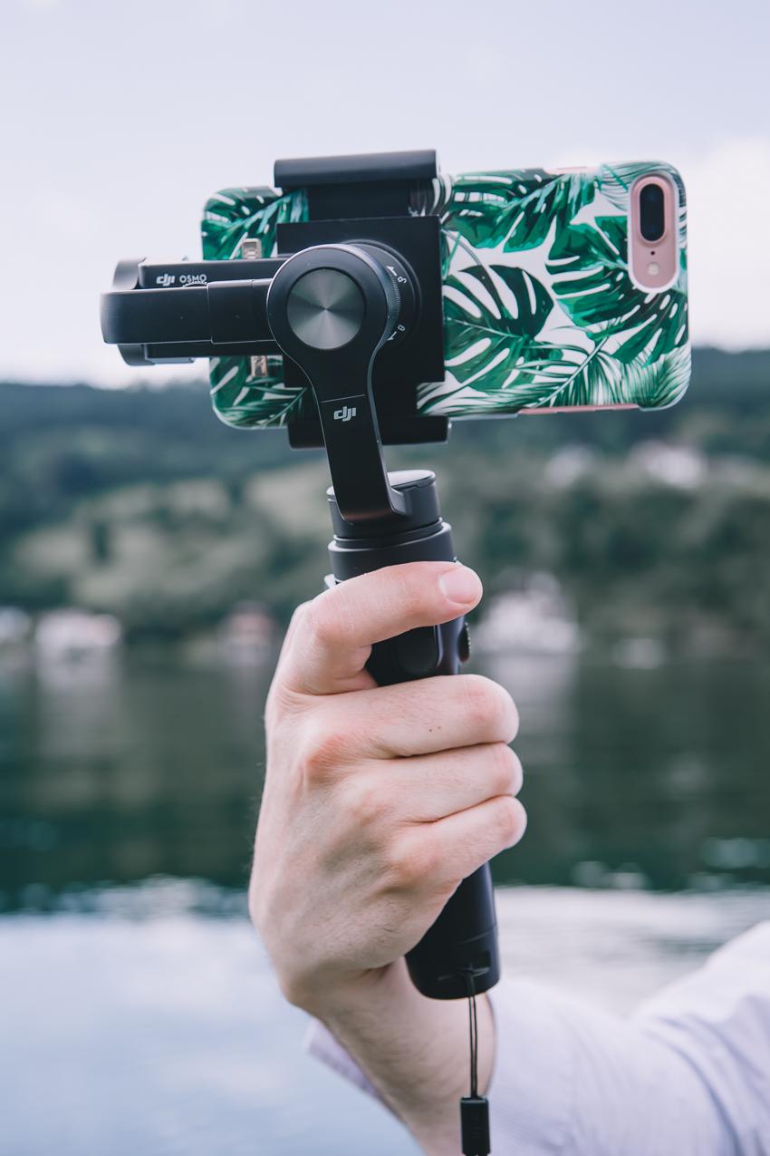 Filmen mit dem iPhone7plus und DJI Osmo Mobile