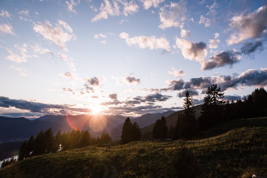 Sonnenuntergang auf der Millstätter Alpe