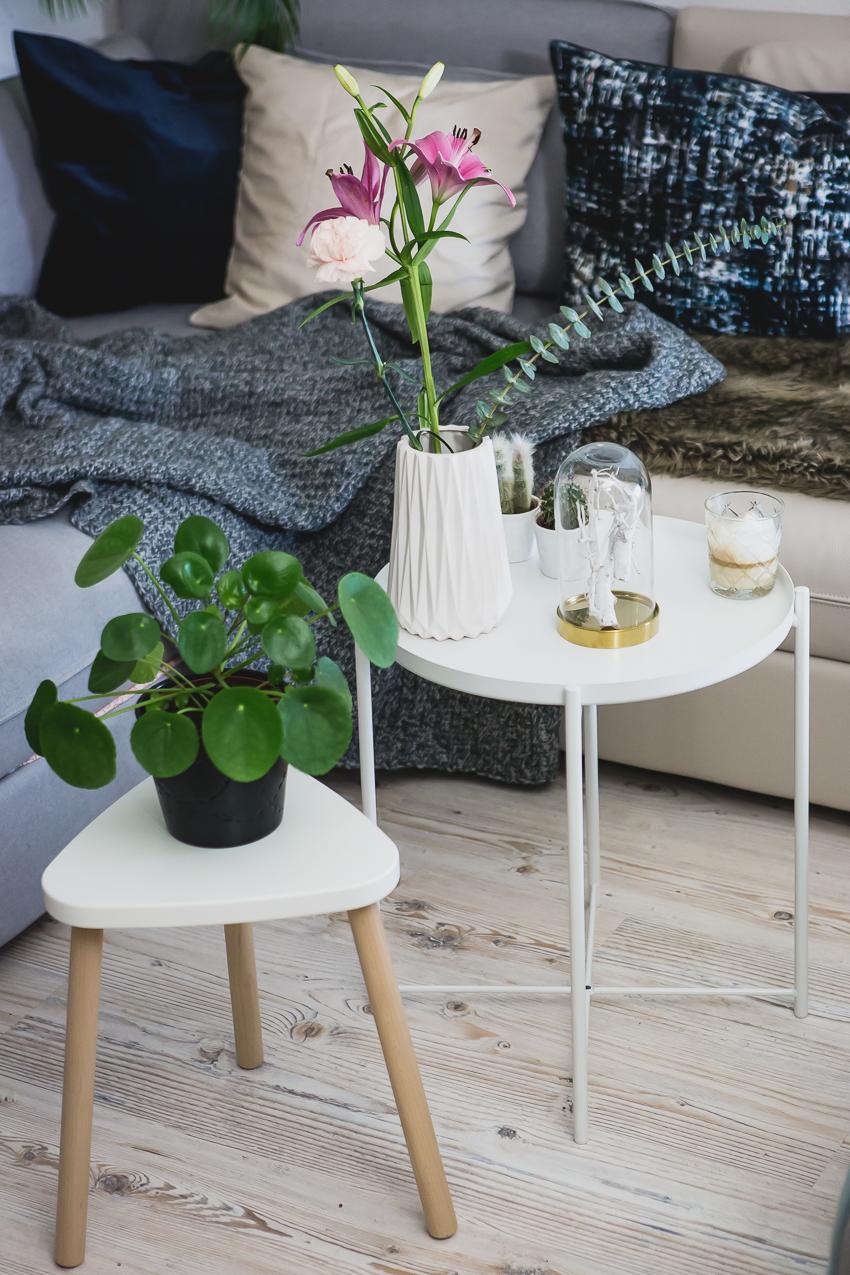 Wohnzimmer Kissenhülle aus Samt von IKEA