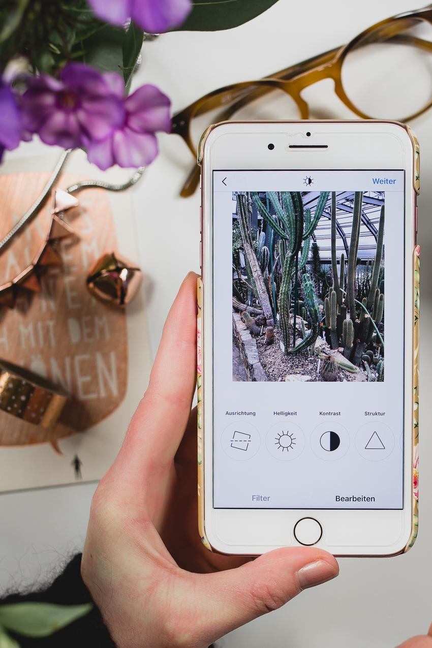 Instagram Fotos in der App bearbeiten