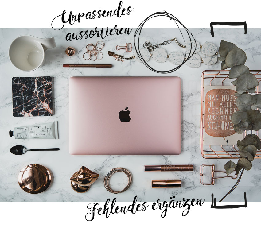 Flat Lay Styling Flatlays für Instagram