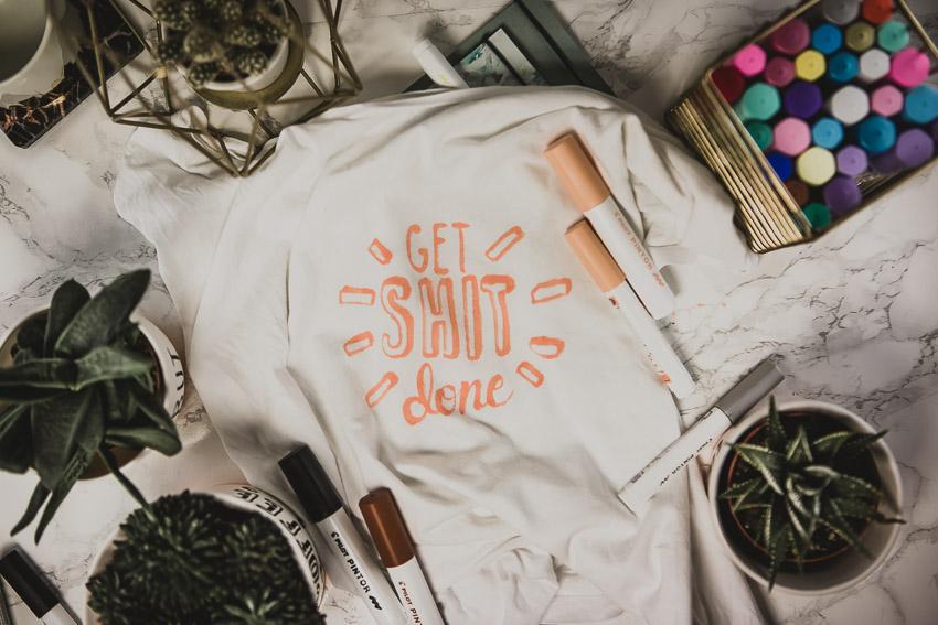 Get Shit Done Aufschrift für T-Shirt DIY