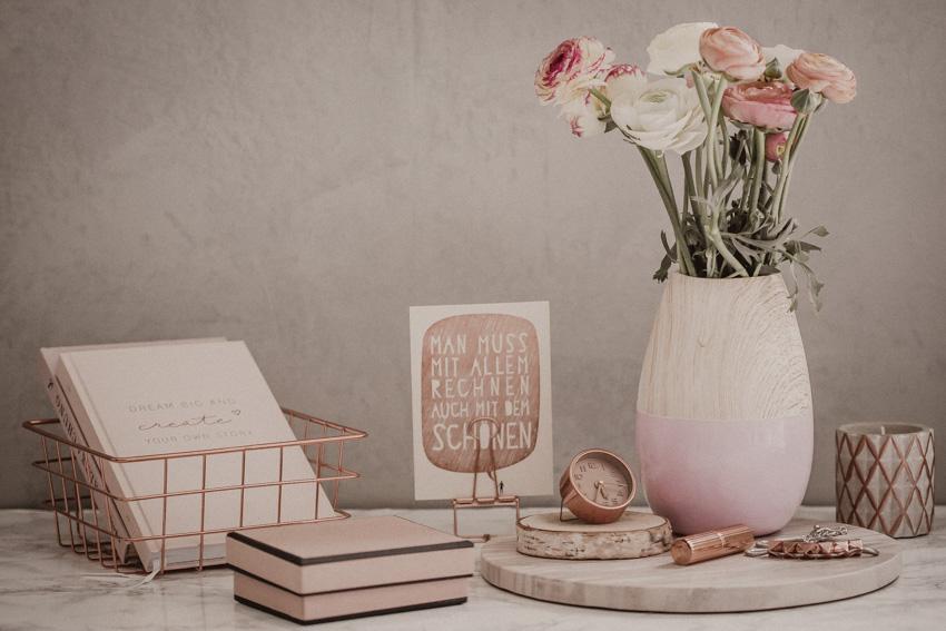Dekoration Ideen deko ideen für den frühling - deko tipps fürs wohnzimmer – rosegold