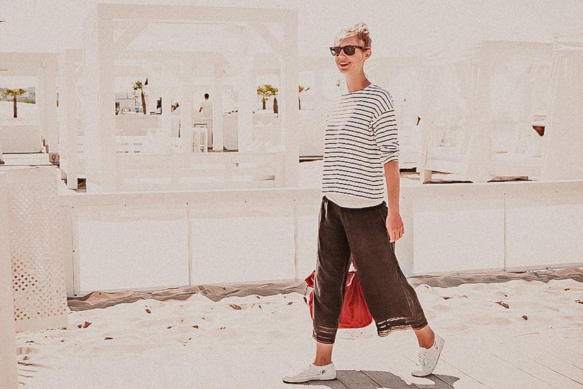 Culotte sommerlich kombinieren - Maritimer Look mit Culotte