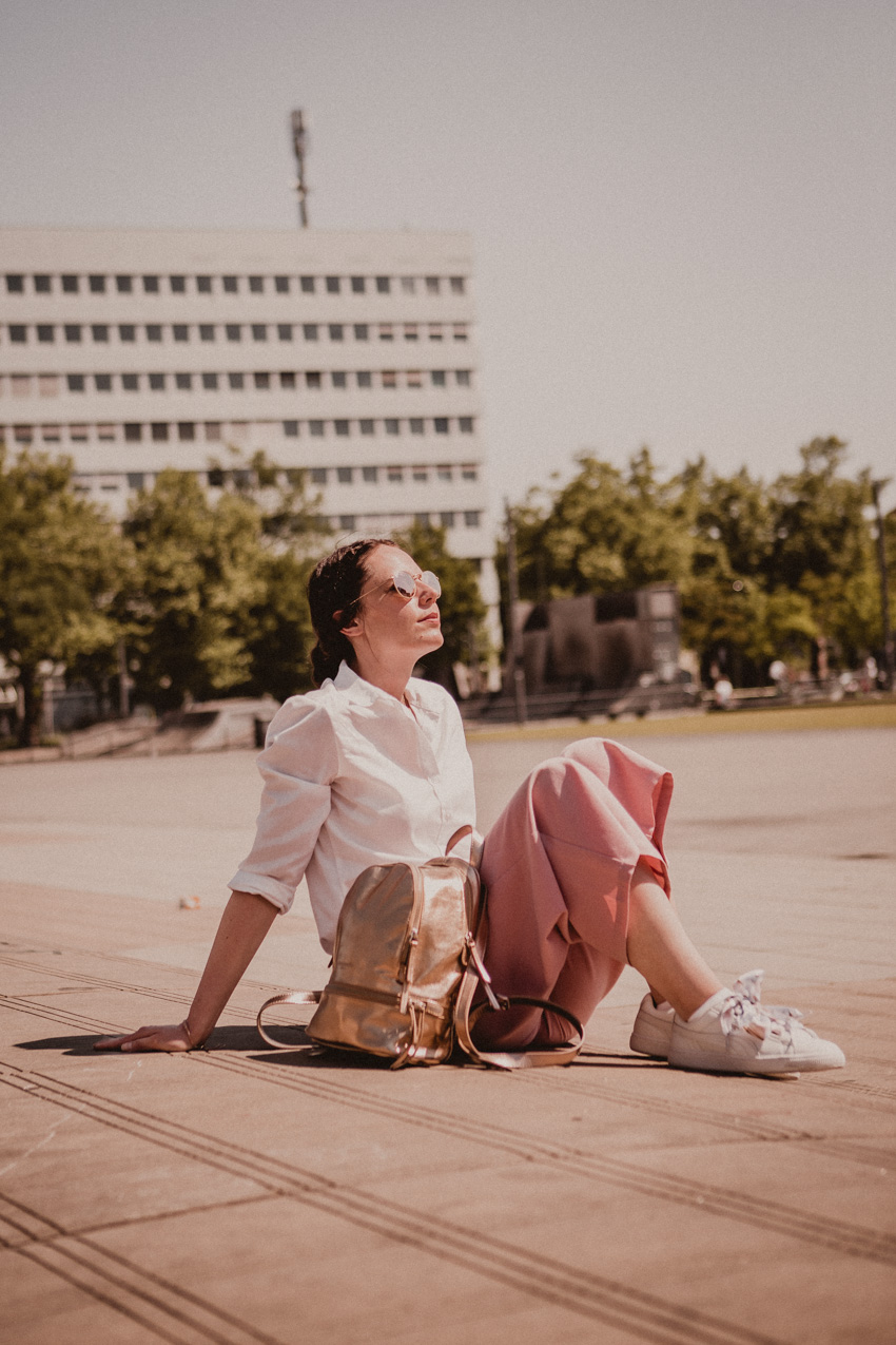 rosa Culotte kombinieren: Stylingideen für Culottes