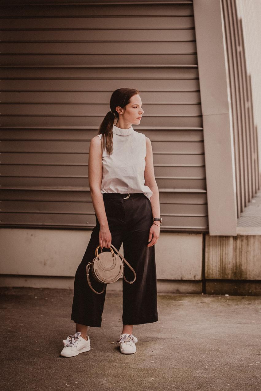 Culotte kombinieren - So stylst du weite Hosen bürotauglich