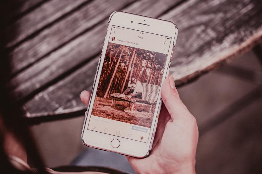 Rosegold Filter für Instagram Bilder