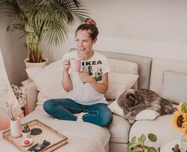 mein neues ikea sofa vallentuna und gewinnspiel rosegold marble. Black Bedroom Furniture Sets. Home Design Ideas